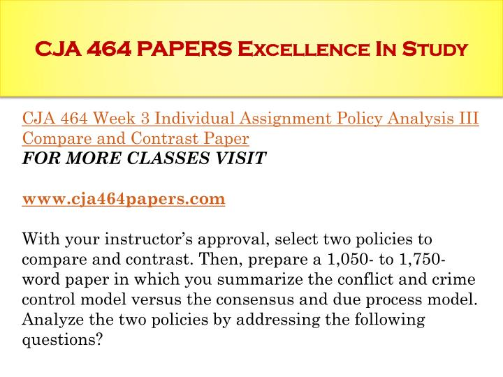 cja 464 For more classes visit wwwcja464expertcom this tutorial contains new assignments, even 2 papers for some assignments, please check the detail below cja 464 week 1 discussion question by stephen3991 in types  presentations, dqs, and checkpoints.