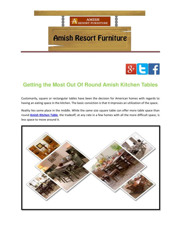Getting the Most Out Of Round Amish Kitchen Tables