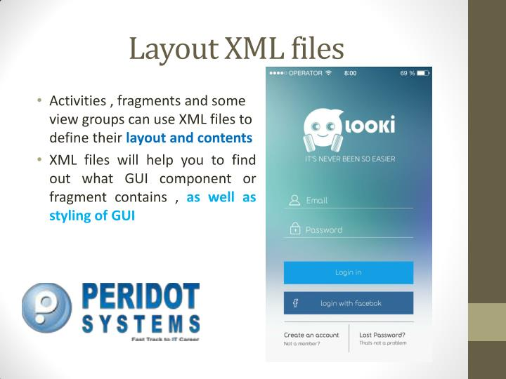 Layout XML files