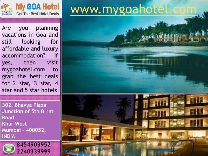 www.mygoahotel.com