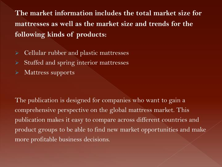 The market information includes the total market size for