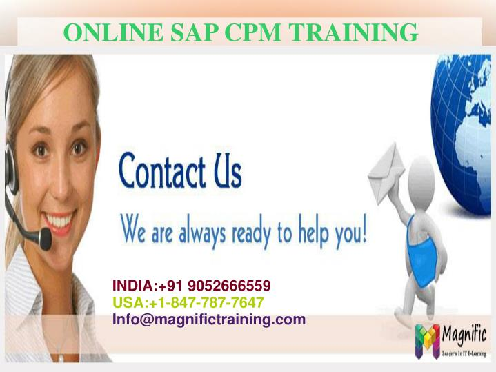 Ppt Sap Cpm Online Training Powerpoint Presentation Id