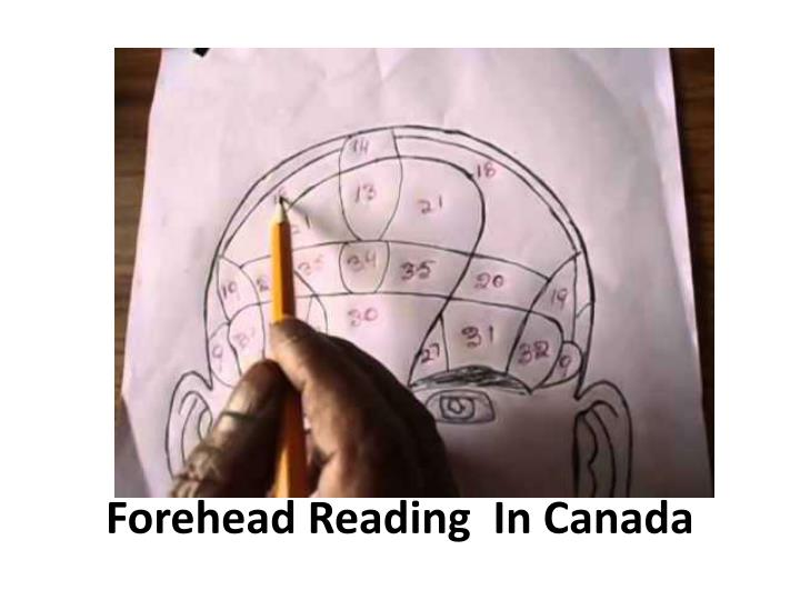 Forehead Reading  In Canada