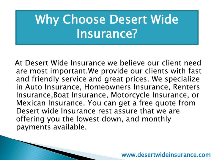 Innovative PPT  Arizona Car Insurance  Desert Wide Insurance