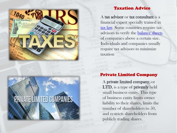 Taxation Advice