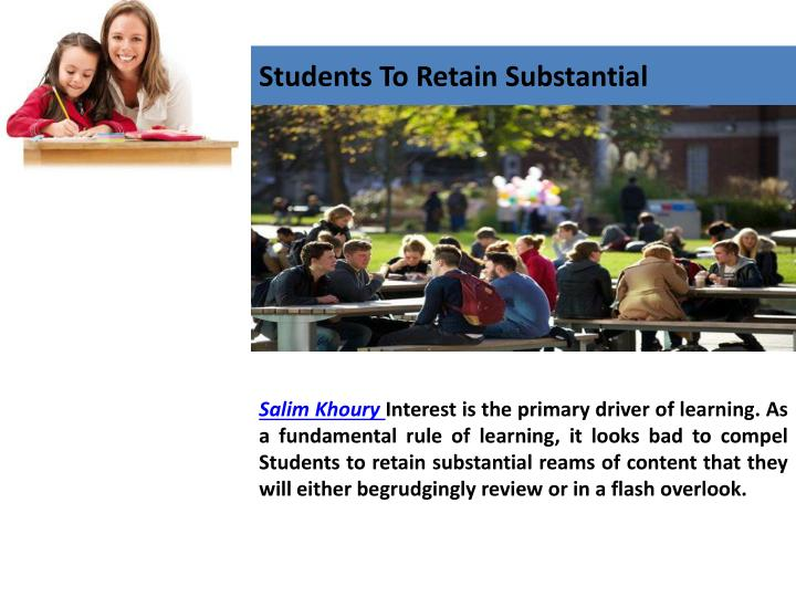 Students to retain substantial