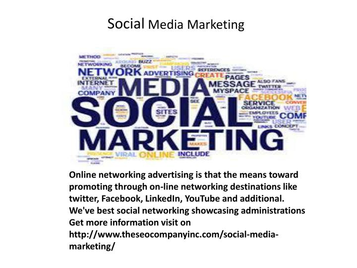Online networking advertising is that the means toward promoting through on-line networking destinat...