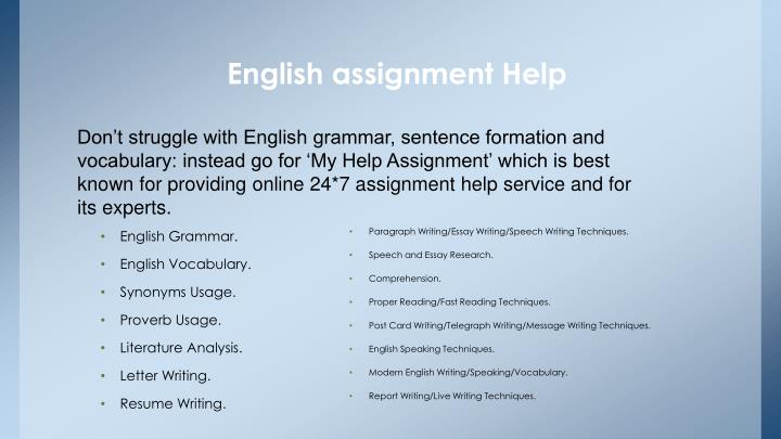 Why Are Myassignmenthelp.Com's English Assignment Writers Known To Be The Best?