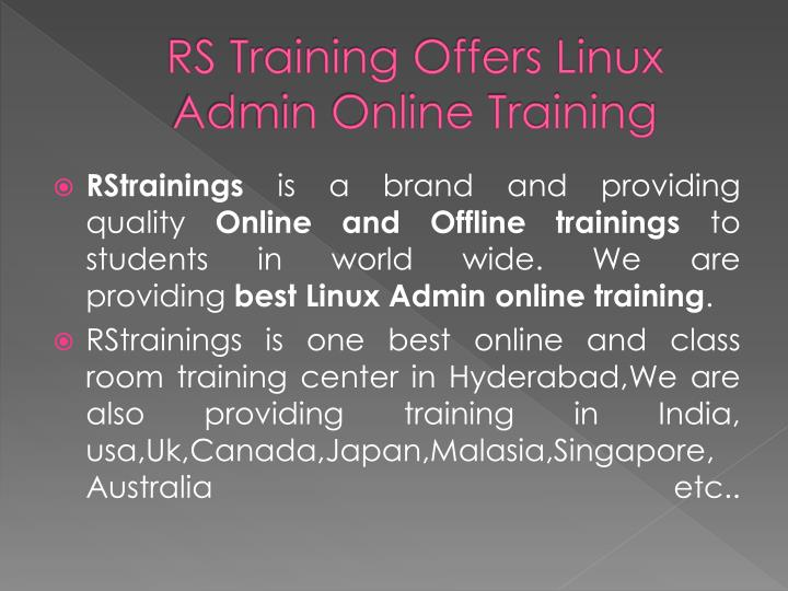 RS Training Offers Linux Admin Online Training