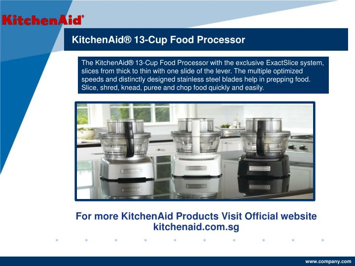 Ppt Kitchenaid 174 13 Cup Food Processor With Exactslice