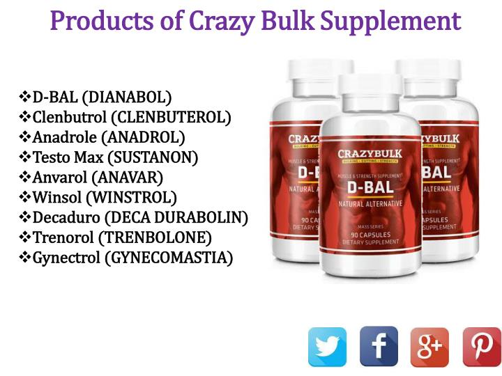 Products of Crazy Bulk Supplement