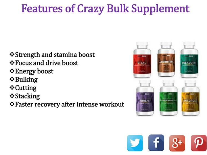 Features of Crazy Bulk Supplement