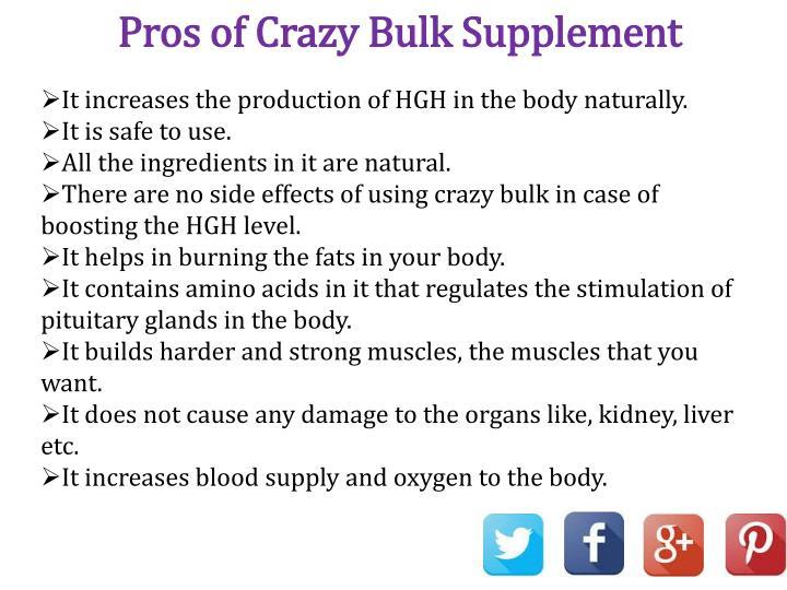 Pros of Crazy Bulk Supplement