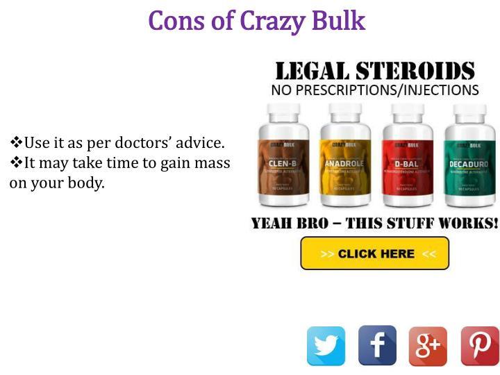 Cons of Crazy Bulk