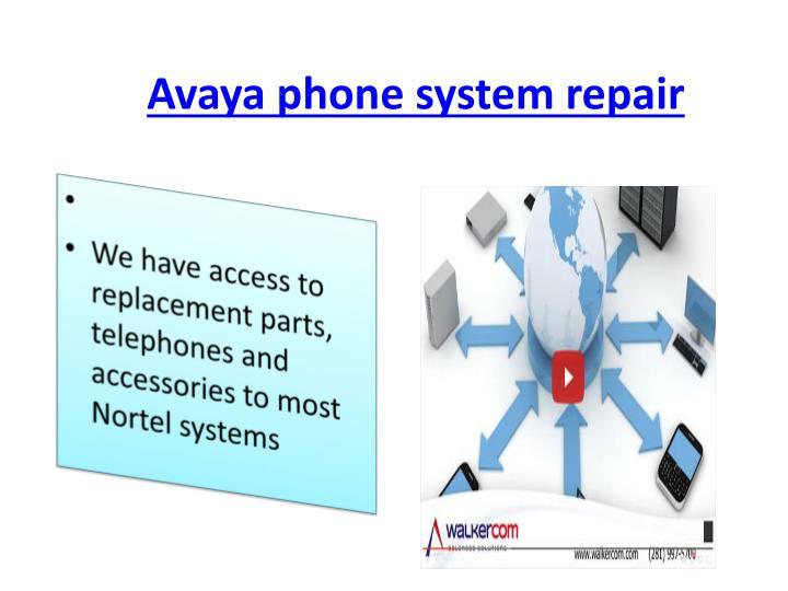 Avaya phone system repair
