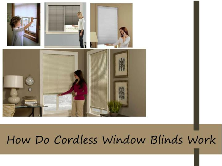 Ppt How Do Cordless Window Blinds Work Powerpoint