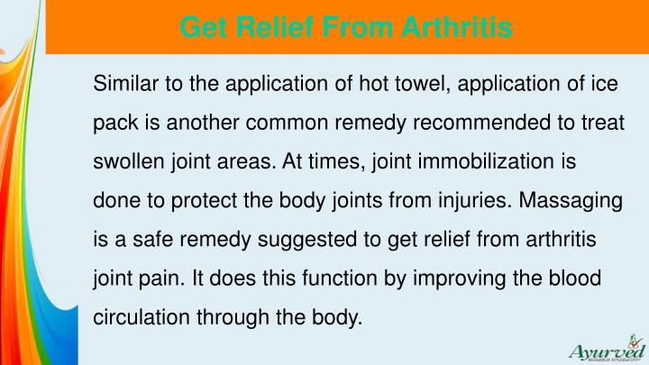 Get Relief From Arthritis