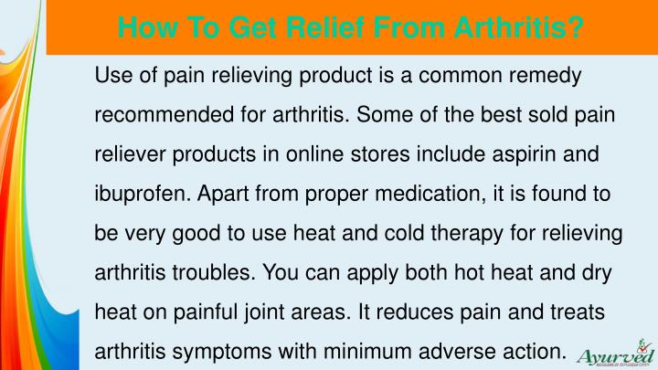 How to get relief from arthritis1