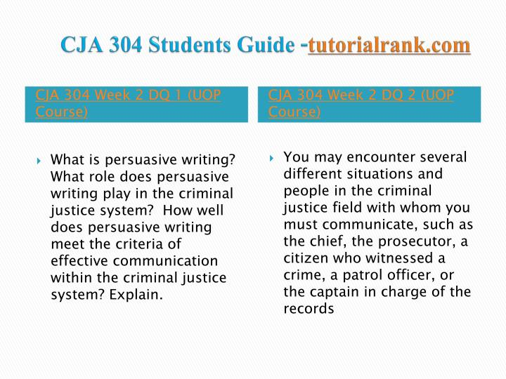 CJA 304 Students Guide -
