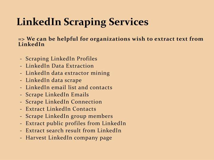 LinkedIn Scraping Services