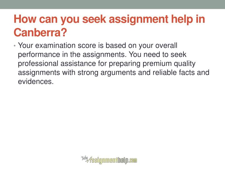 How can you seek assignment help in Canberra?