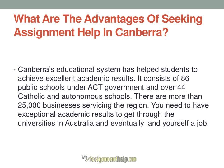 What are the advantages of seeking assignment help in canberra