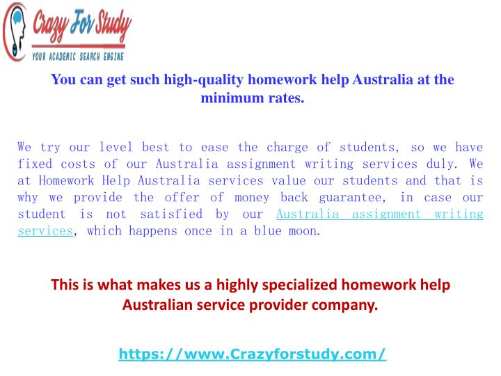 Assignment helper in australia