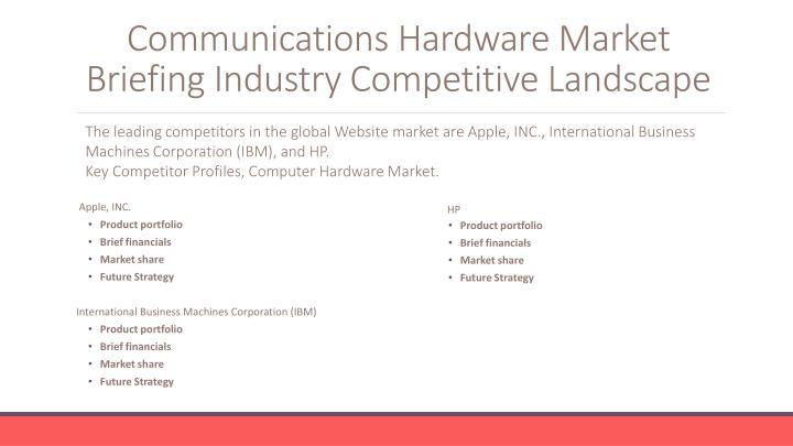 Communications Hardware