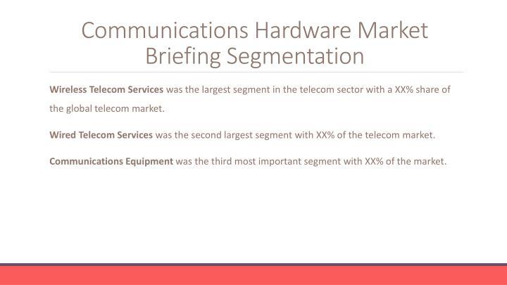 Communications Hardware Market Briefing