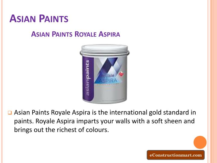 Ppt Decorate Your Interior And Exterior Home With Econstructionmart Wall Paints Powerpoint