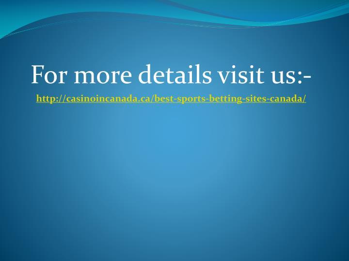 For more details visit us:-