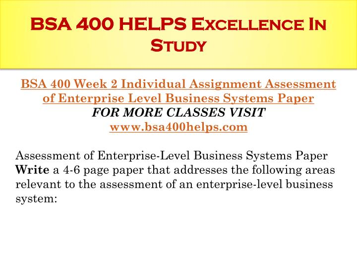 Bsa 310 individual system inventory essay