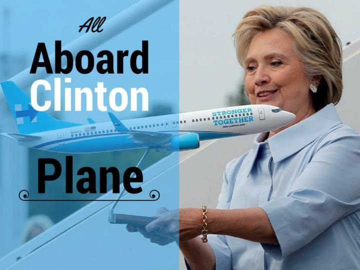 All on board clinton plane