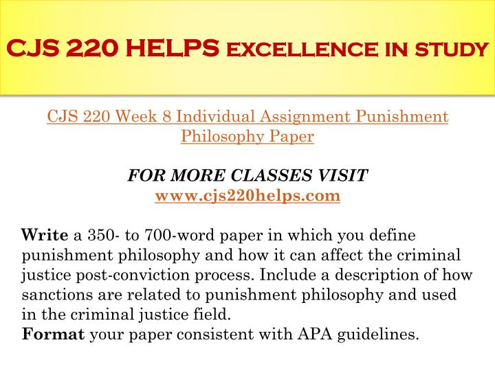 cjs 220 week 9 capstone question Cjs 220 complete class week 1-9 includes all  write a 200- to 300-word responseanswering discussion question 1 on p 488 in the courts  cjs 220 week 9-capstone.