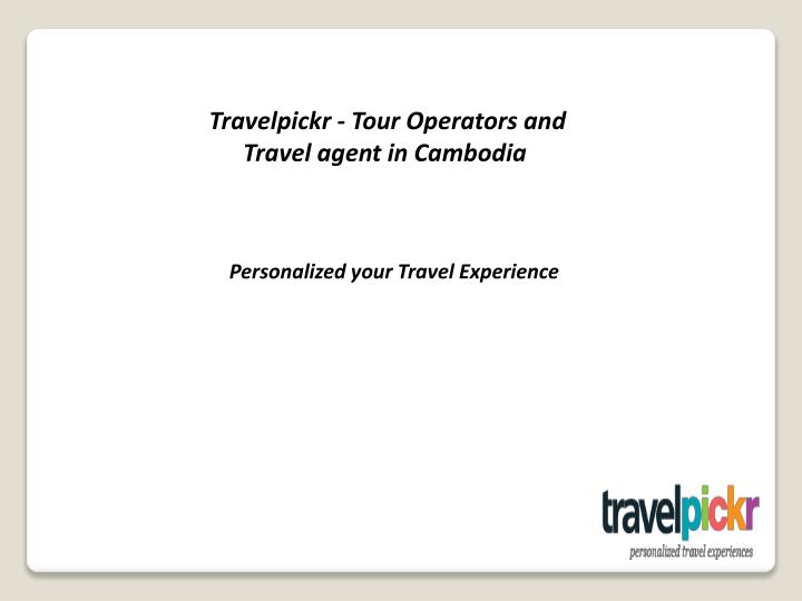Travelpickr - Tour Operators and
