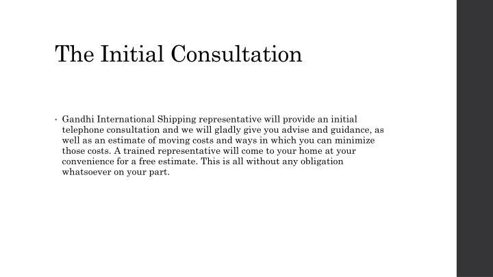 why is the initial consultation important To help make things easier for you, here is a list of the most important questions that we feel a patient should ask at their initial consultation the first thing that drtorgerson will assess is if you are a good candidate for an fue hair transplant.