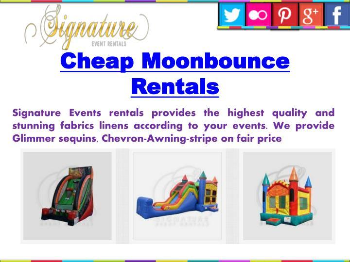Cheap Moonbounce Rentals
