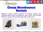 cheap moonbounce rentals