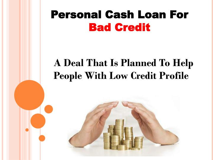 Personal Cash Loan For