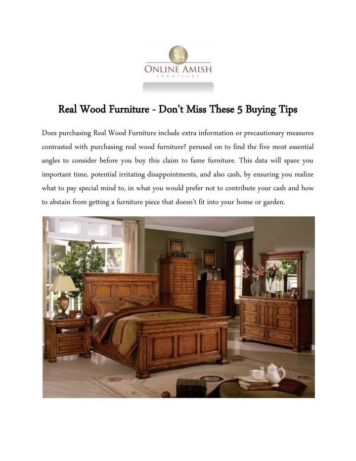 Real Wood Furniture