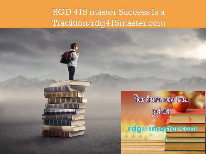 Rgd 415 master success is a tradition rdg415master com