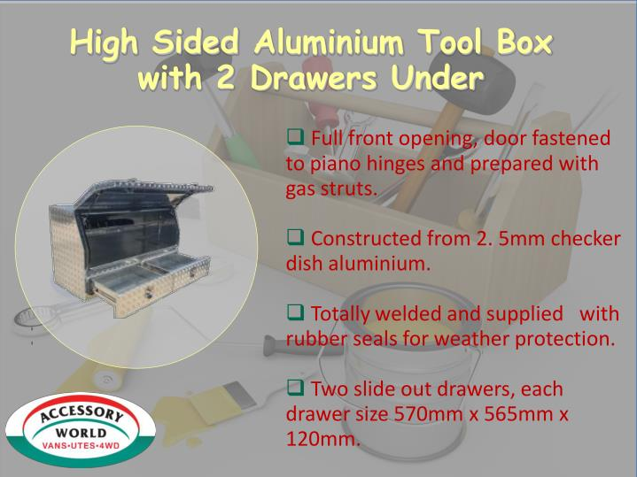 High Sided Aluminium Tool Box
