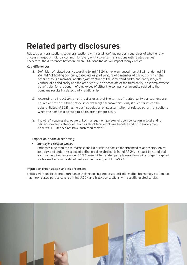 as 24 related party disclosure Ias 24- related party disclosures does all three (3) criteria need to be met for a person to be considered a related party to the reporting entity.