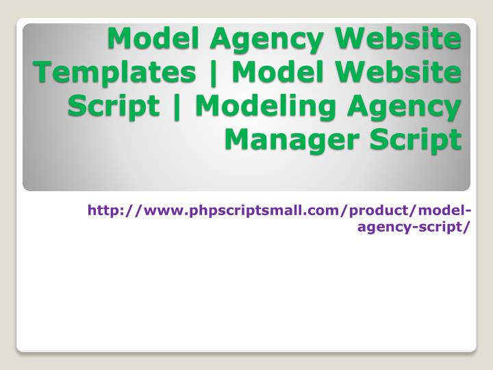 model agency website templates model website script modeling agency manager script - Agency Manager