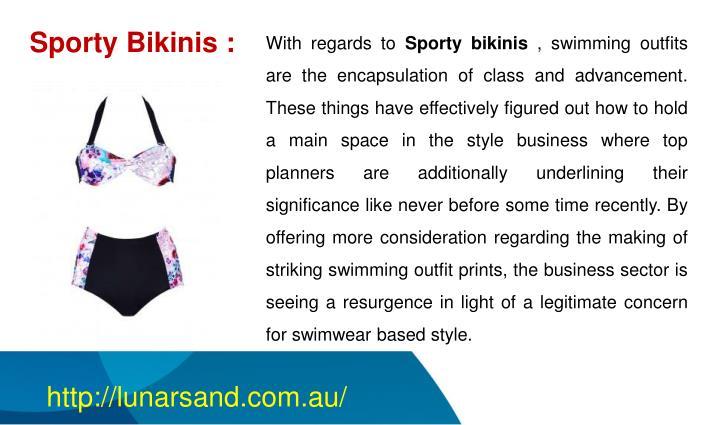 Sporty Bikinis :