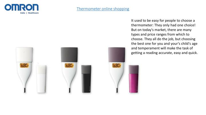 Thermometer online shopping