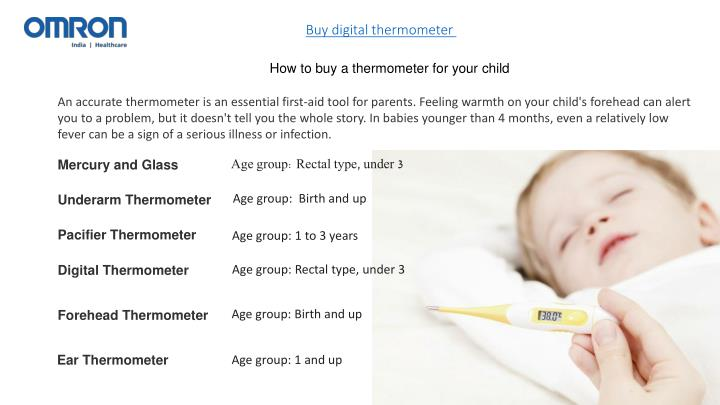 Buy digital thermometer