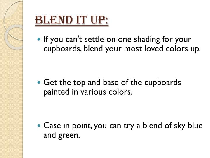 Blend It Up: