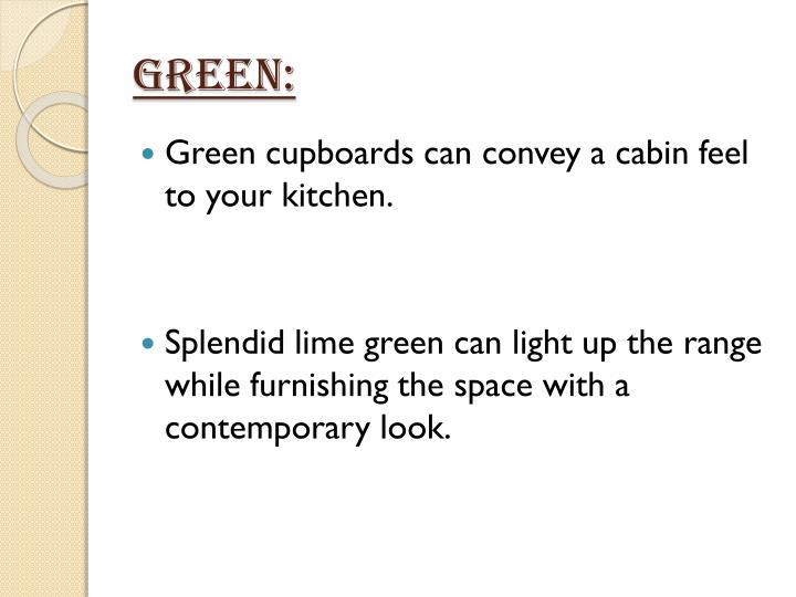 Green:
