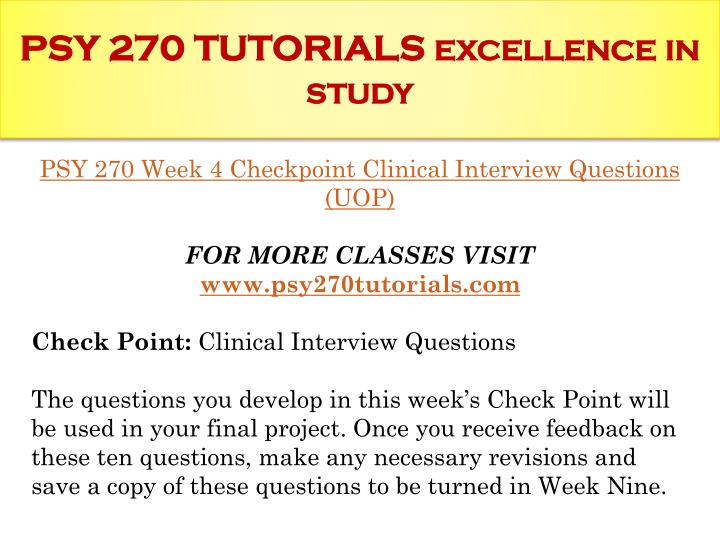psy 270 checkpoint Behaviors of individuals at transportation checkpoints and elsewhere related   as discussed in chapter six, indicators of activities in the psy-  page 270.